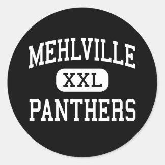 Mehlville - Panthers - High - Saint Louis Missouri Round Sticker
