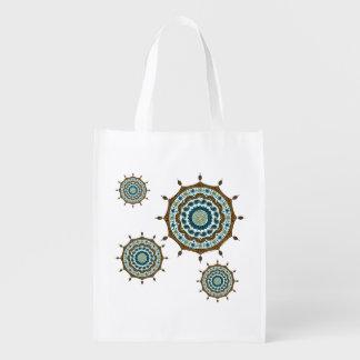 Mehndi Fantasy Copper Reusable Grocery Bag Reusable Grocery Bag