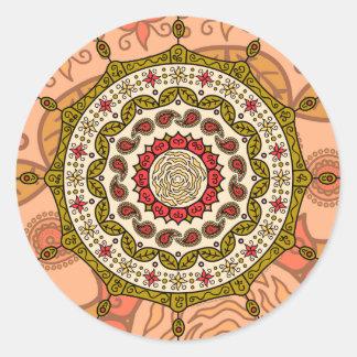 Mehndi Fantasy Gold Sticker