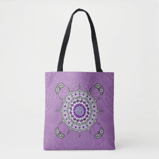 Mehndi Fantasy Silver All-Over-Print Bag