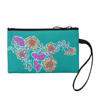 Mehndi Flower Coin Purse, Choose your own Color! Coin Wallet