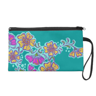 Mehndi Flower Wristlet, Choose your own Color! TBA Wristlet Purse