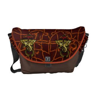 Mehndi Ganesha Messenger Bags