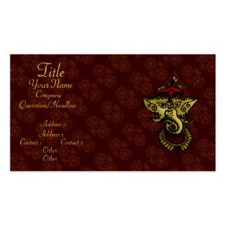 Mehndi Ganesha Pack Of Standard Business Cards