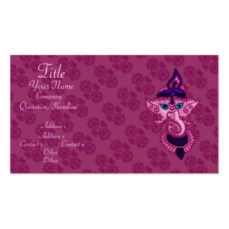 Mehndi Ganesha (Pink) Business Cards