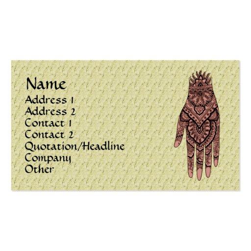 henna artist business cards makedes