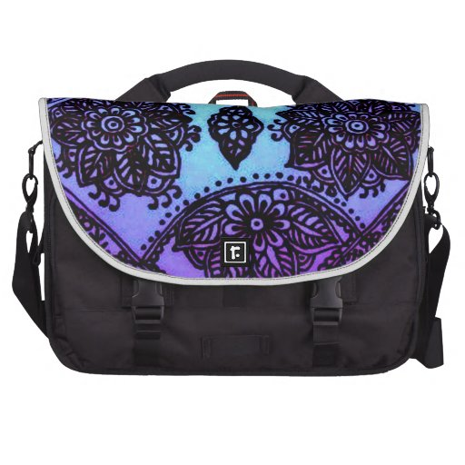 Mehndi Henna Blue Mix Bags For Laptop