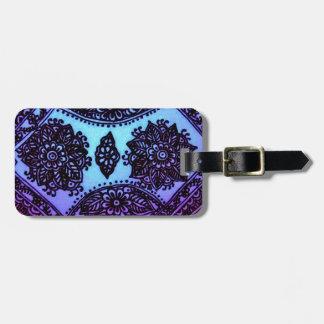 Mehndi Henna Blue Mix Luggage Tag