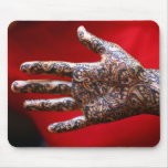 Mehndi henna hand mouse pad