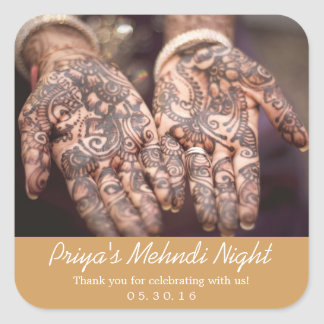 Mehndi (Henna) Night Thank You Stickers