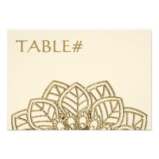 Mehndi Lace Table Number Cards