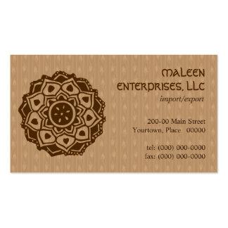Mehndi Ornamental Business Cards