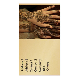 Mehndi Pack Of Standard Business Cards