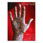 "Mehndi Party Invitation 5"" X 7"" Invitation Card"