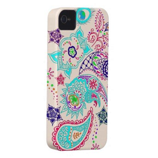 Mehndi pattern design iPhone 4 Case-Mate cases