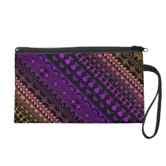 mehndi rainbow lace pattern wristlet clutches