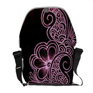 mehndi Rickshaw Messenger Bag