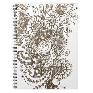 Mehndi Spiral Notebook
