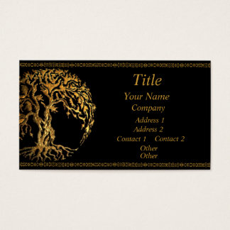 Mehndi Tree of Life (Gold) Business Card