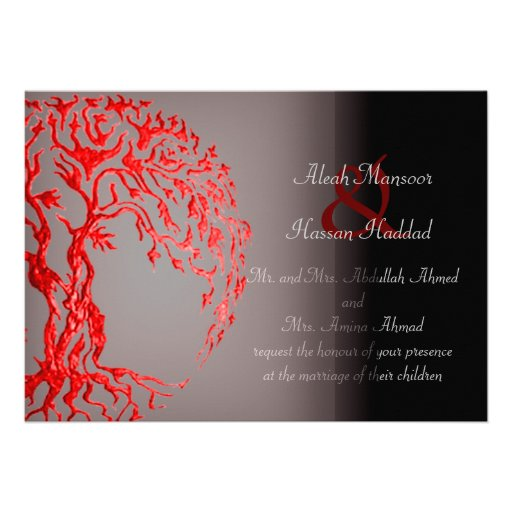 Mehndi Tree of Life (Henna) (Red) Announcements