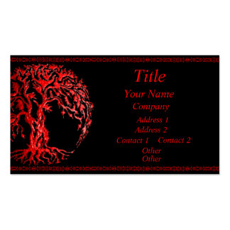 Mehndi Tree of Life (Henna) (Red) Pack Of Standard Business Cards