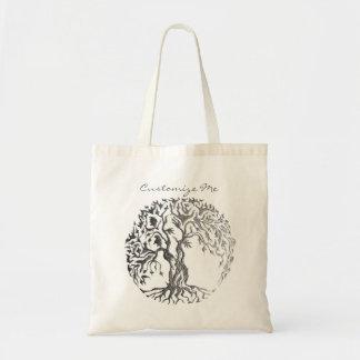 Mehndi Tree of Life (Henna) (Silver) Tote Bag