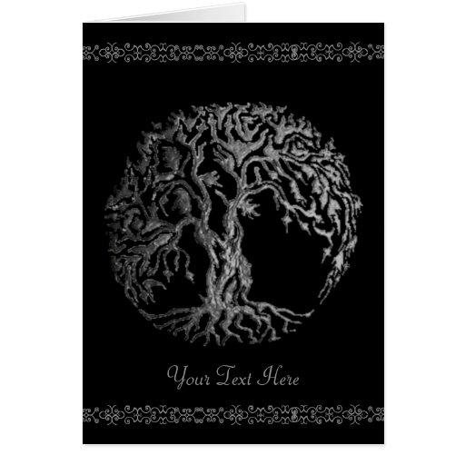 Mehndi Tree of Life (Henna) (Silver) Cards