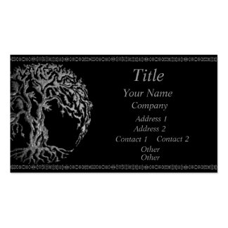 Mehndi Tree of Life (Henna) (Silver) Pack Of Standard Business Cards