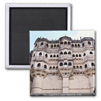 Mehrangarh Fort, Jaipur, Rajasthan, India Square Magnet