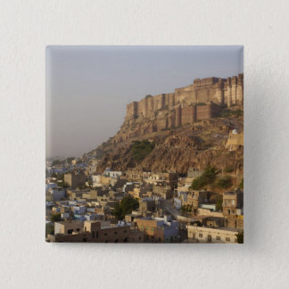 Mehrangarh Fort of Jodhpur. Rajasthan, INDIA. 15 Cm Square Badge