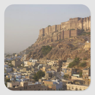 Mehrangarh Fort of Jodhpur. Rajasthan, INDIA. Square Sticker