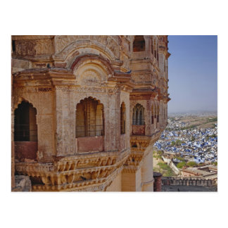 Mehrangarh Fort towering above Jodhpur, The Blue Postcard