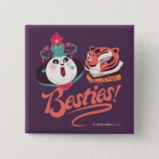 Mei Mei and Tigress - Besties 15 Cm Square Badge