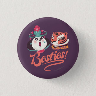 Mei Mei and Tigress - Besties 3 Cm Round Badge
