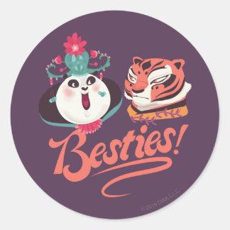 Mei Mei and Tigress - Besties Classic Round Sticker