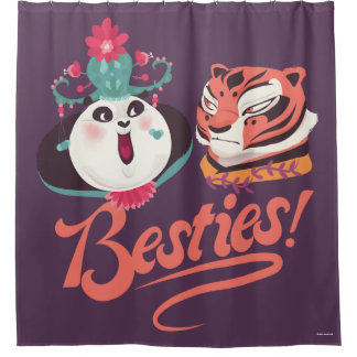 Mei Mei and Tigress - Besties Shower Curtain
