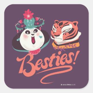 Mei Mei and Tigress - Besties Square Sticker