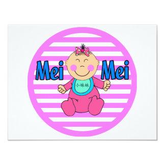 Mei Mei Little Sister Personalized Invitation