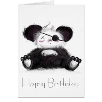 Mei Mei Panda Pirate Greeting Card