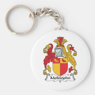 Meiklejohn Family Crest Basic Round Button Key Ring