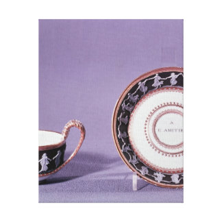 Meissen cup and saucer, late 18th century canvas print