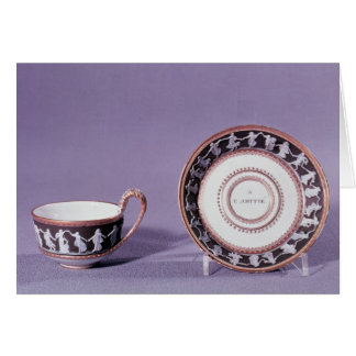 Meissen cup and saucer, late 18th century greeting card