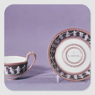 Meissen cup and saucer, late 18th century square sticker