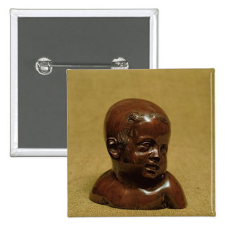 Meissen stoneware bust of a child, c.1715 15 cm square badge