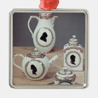 Meissen tea service Silver-Colored square decoration