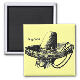 Mejicano-Mexicano Square Magnet