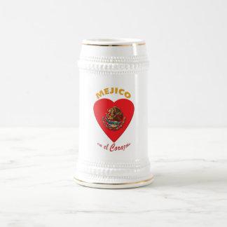 Méjico en el Corazón Beer Mugs