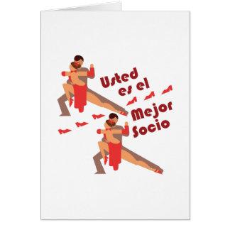 Mejor Socio Greeting Card