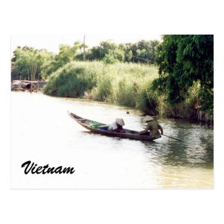 mekong boat post card
