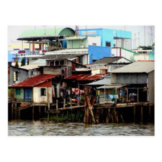 Mekong River Houses Postcard